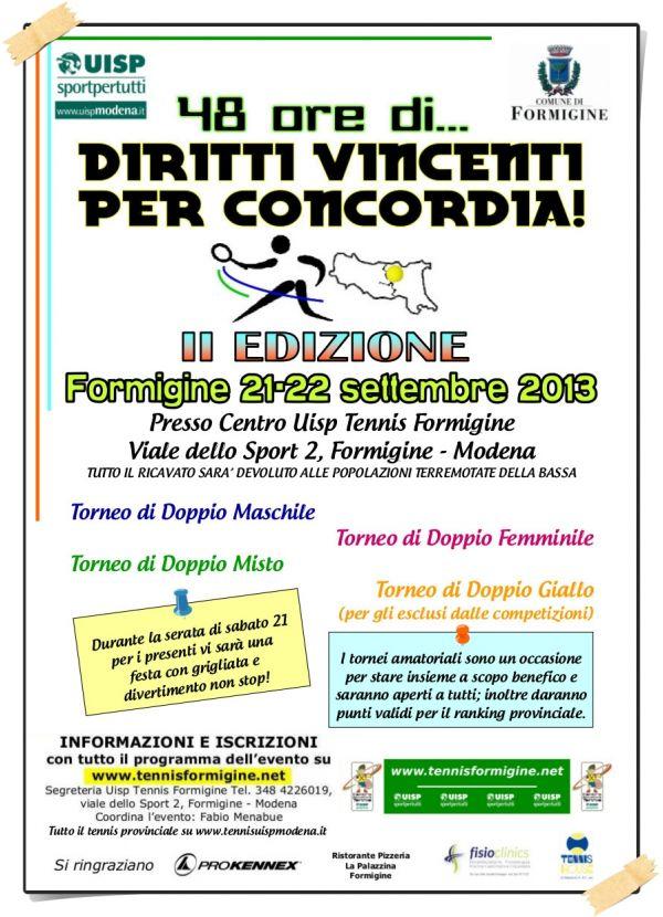 48 ore di ...Diritti Vincenti per Concordia! II Edizione